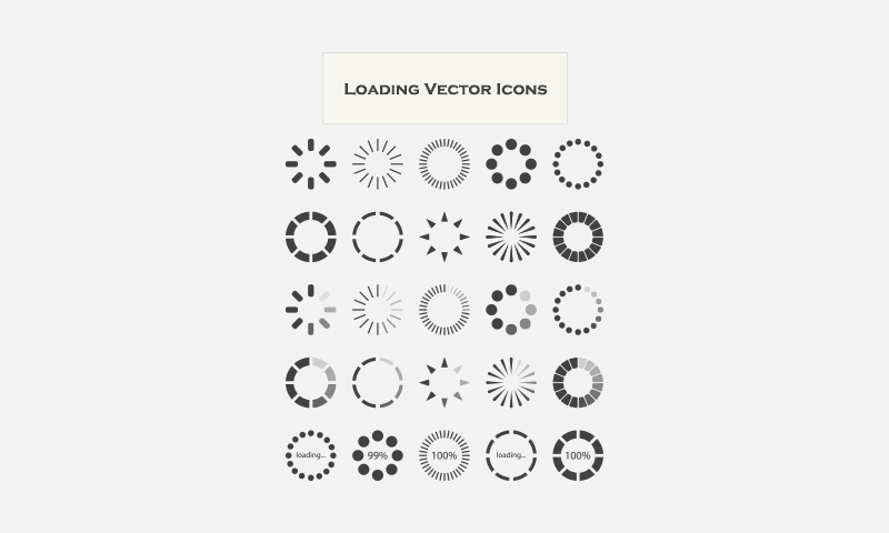 Free Download: 25 Loading Vector Icons - Dreamstale